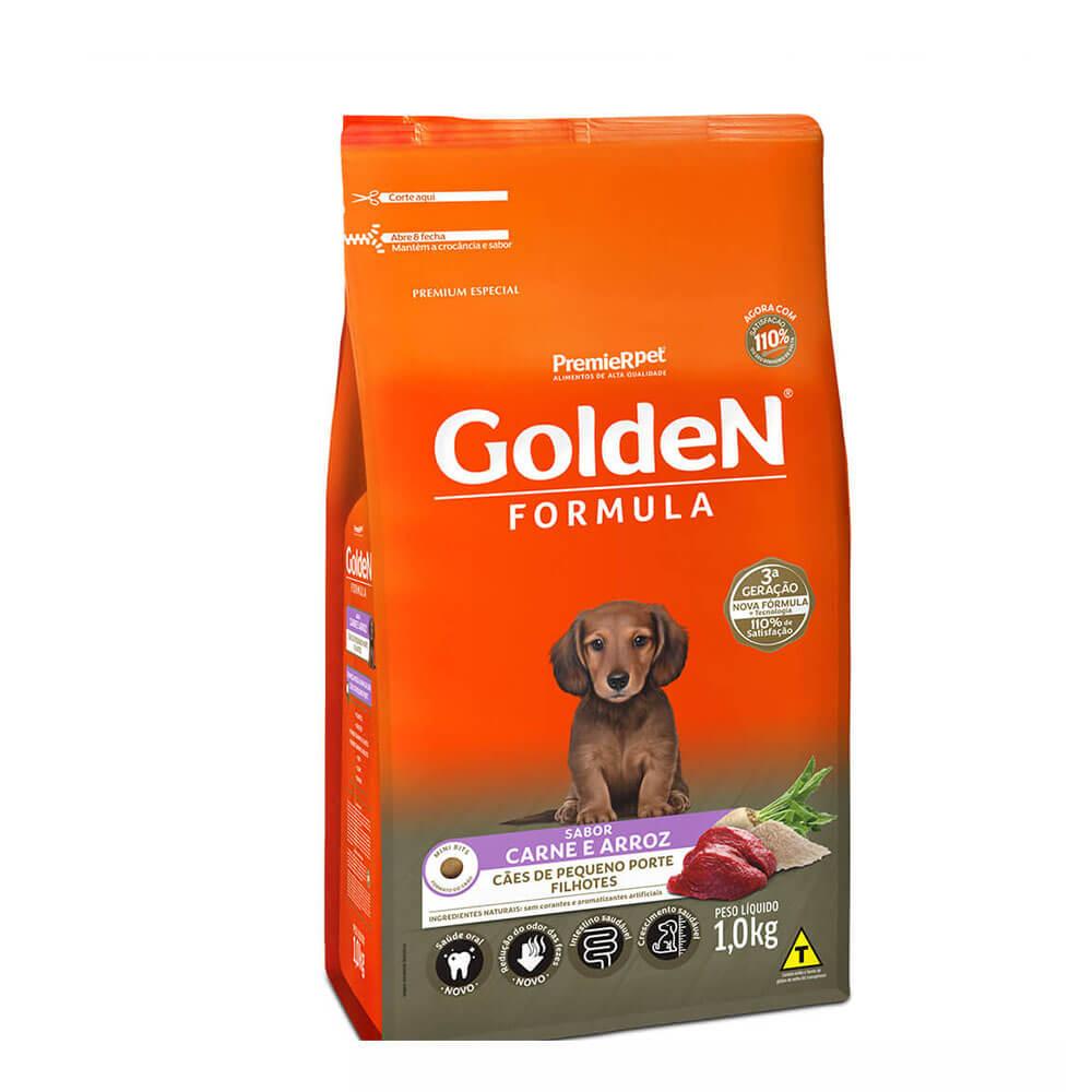 Ração Premier Golden Formula Cães de Pequeno Porte Filhotes Carne e Arroz 1kg