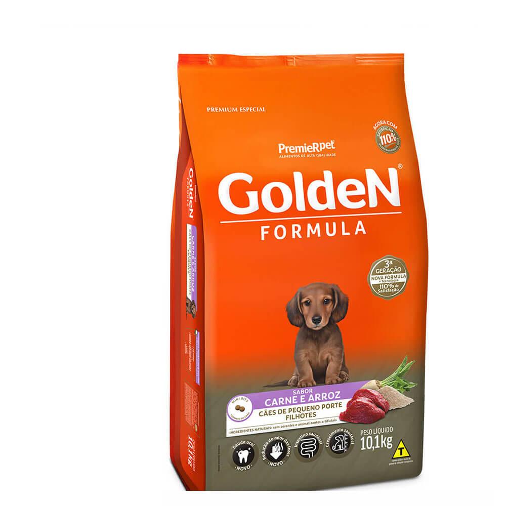 Ração Premier Golden Formula Cães de Pequeno Porte Filhotes Frango e Arroz 10,1kg
