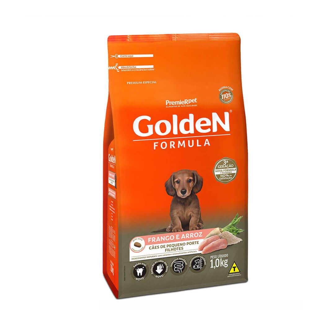 Ração Premier Golden Formula Cães de Pequeno Porte Filhotes Frango e Arroz 1kg