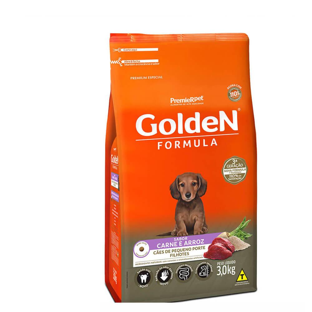 Ração Premier Golden Formula Cães de Pequeno Porte Filhotes Frango e Arroz 3kg
