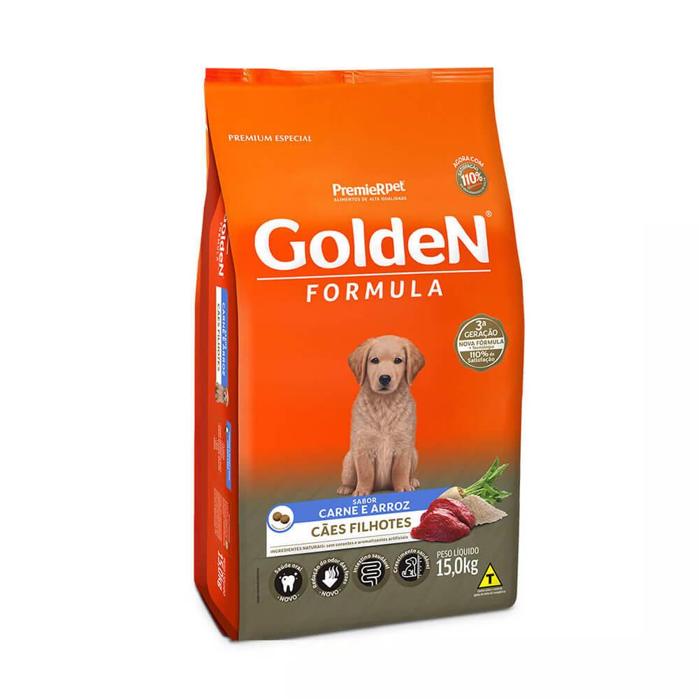 Ração Premier Golden Formula Cães Filhotes Carne e Arroz 15kg