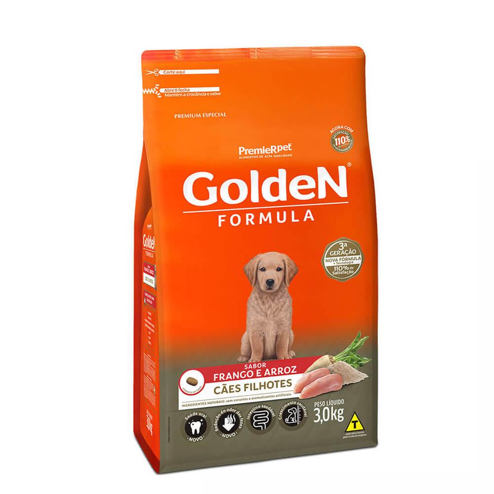 Ração Premier Golden Formula Cães Filhotes Frango e Arroz 3kg