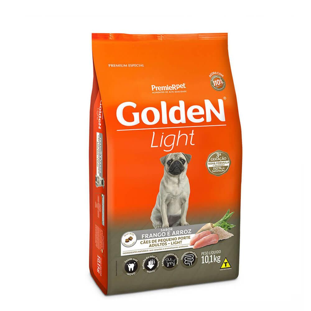 Ração Premier Golden Formula Light Cães Pequeno Porte Adultos Frango e Arroz 10,1kg