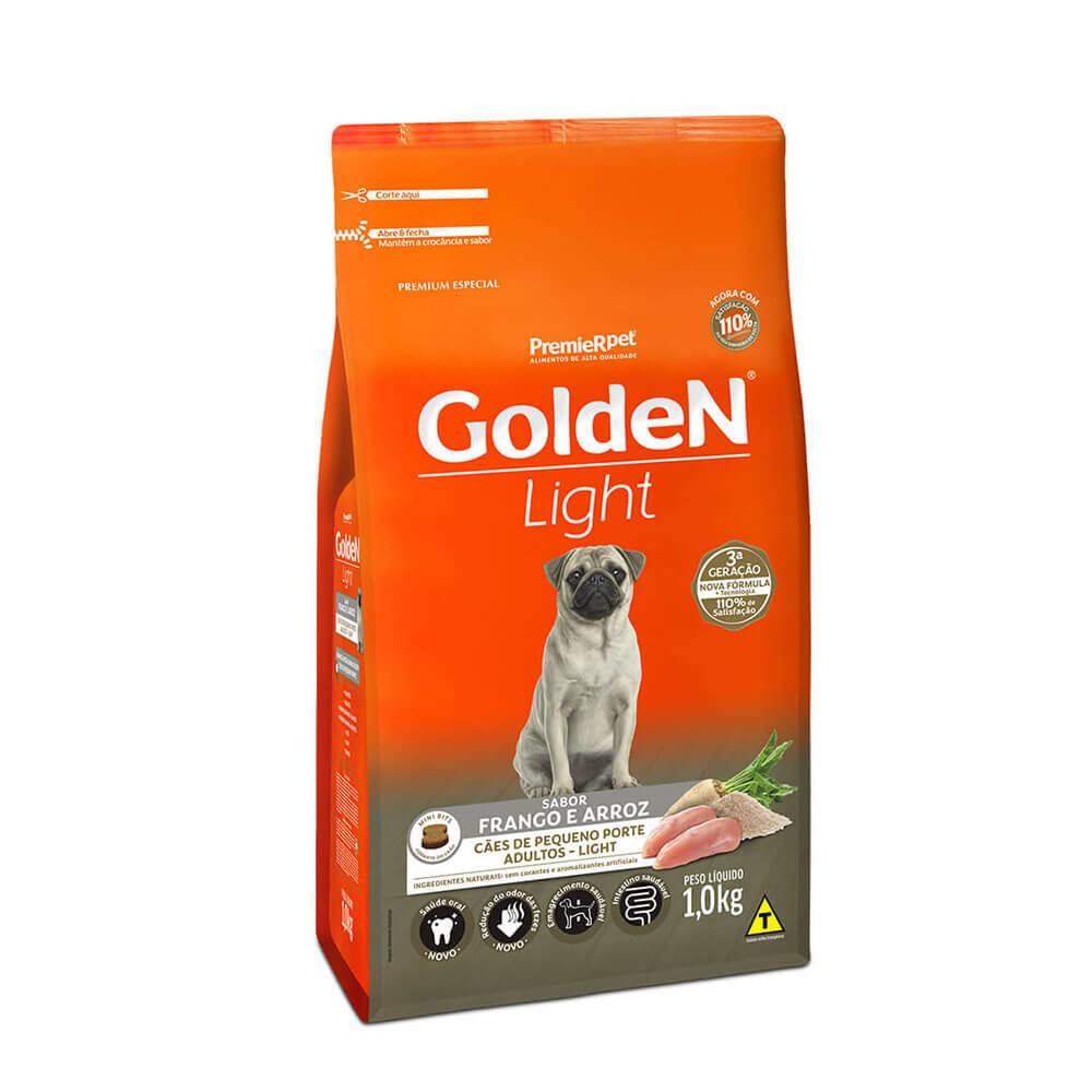 Ração Premier Golden Formula Light Cães Pequeno Porte Adultos Frango e Arroz 1kg