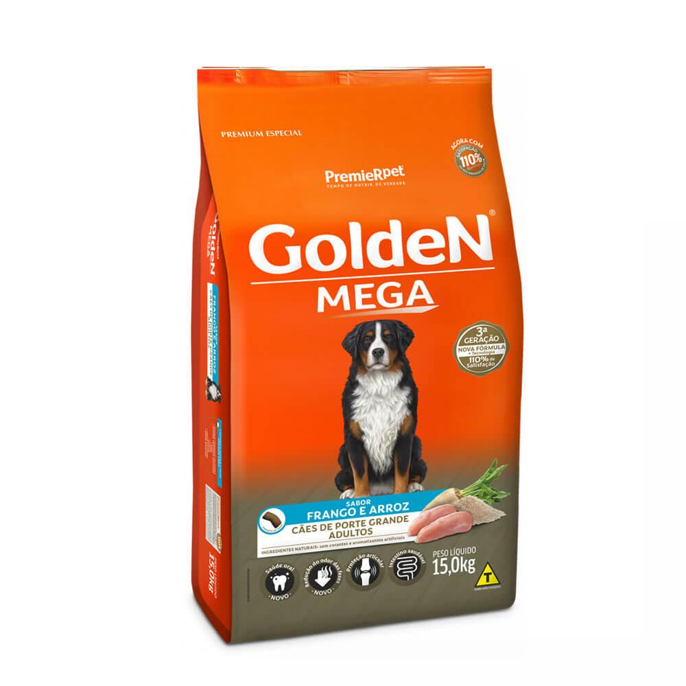 Ração Premier Golden Formula Mega Cães de Grande Porte Adultos Frango e Arroz 15kg