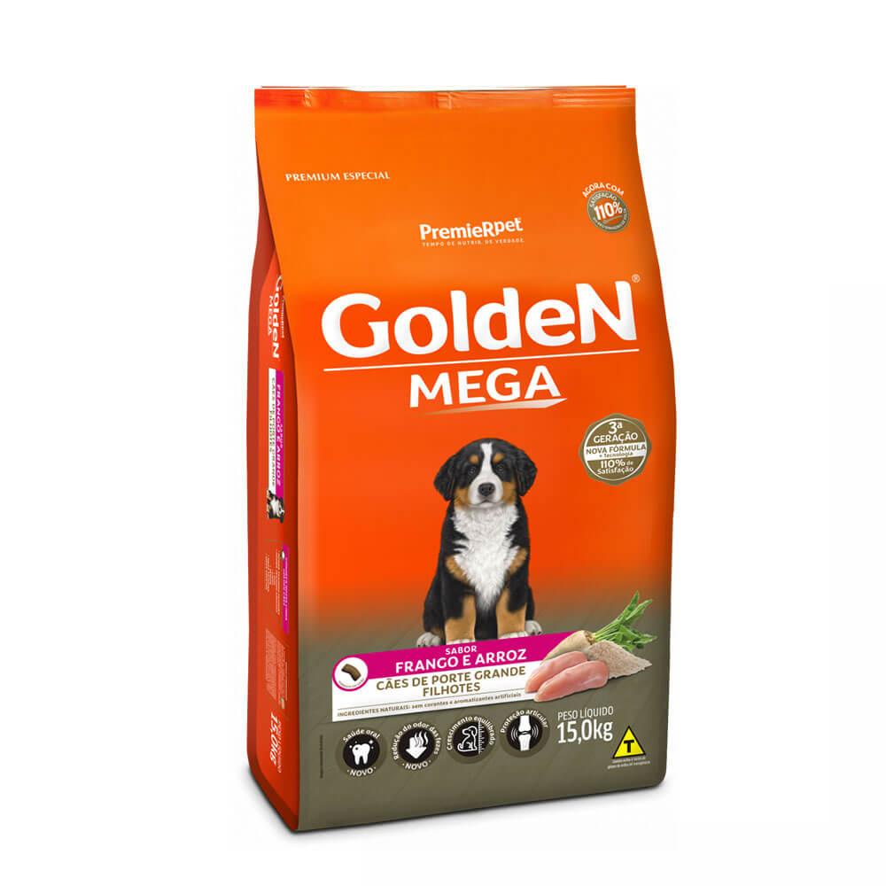 Ração Premier Golden Formula Mega Cães de Grande Porte Filhotes Frango e Arroz 15kg