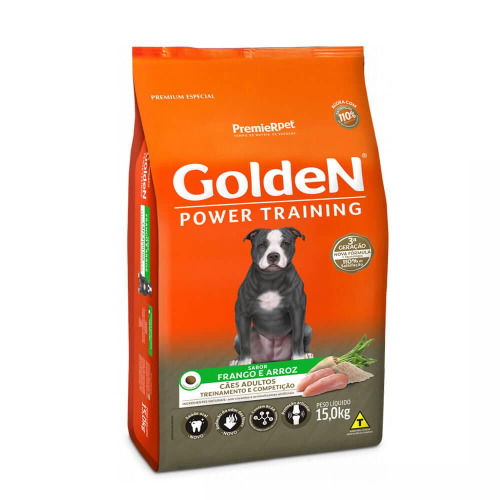 Ração Premier Golden Formula Power Training Cães Adultos Sabor Frango e Arroz 15kg
