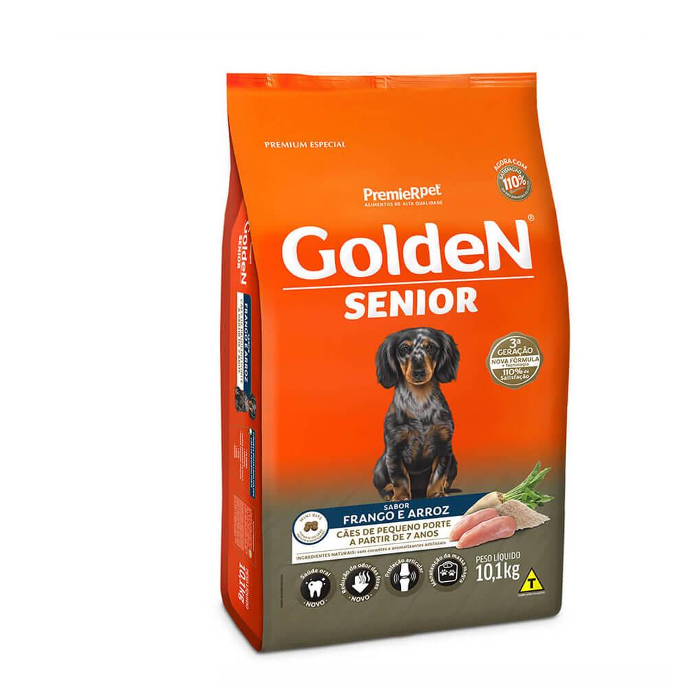 Ração Premier Golden Formula Senior Cães de Pequeno Porte a partir de 7 anos Frango e Arroz 10,1kg