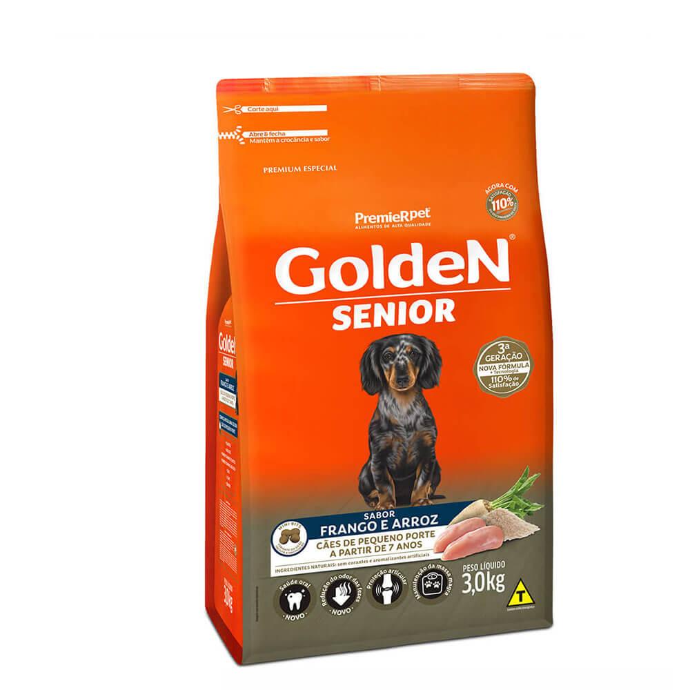 Ração Premier Golden Formula Senior Cães de Pequeno Porte a partir de 7 anos Frango e Arroz 3kg