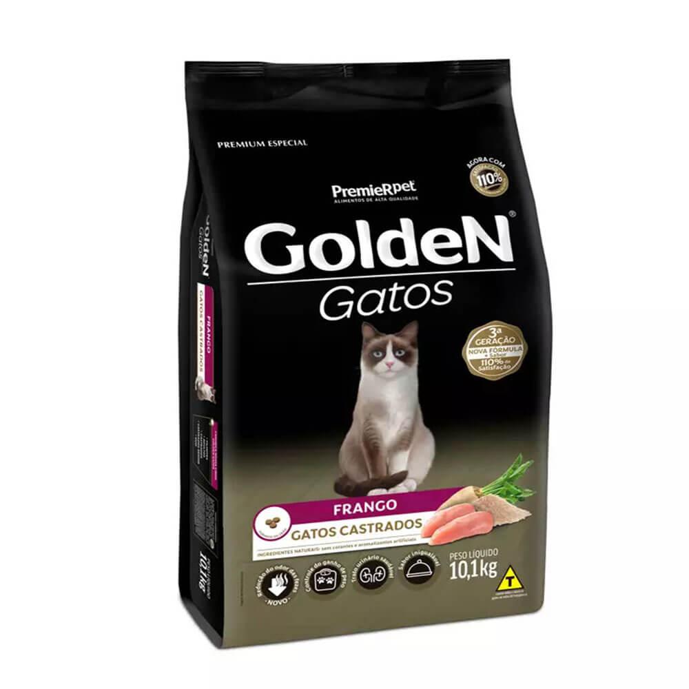 Ração Premier Golden Gatos Castrados Frango 10,1kg