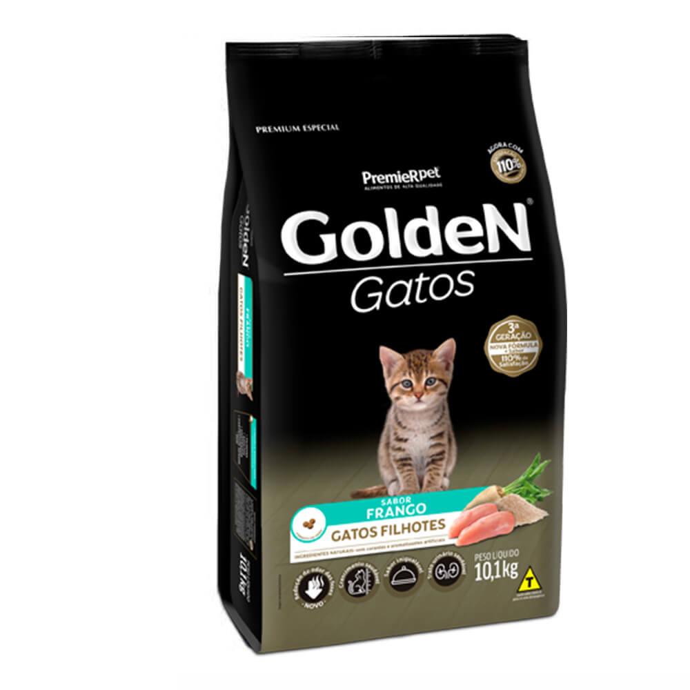 Ração Premier Golden Gatos Filhotes Frango 10,1kg