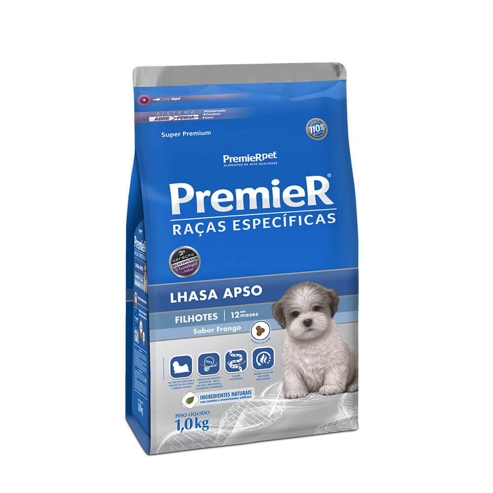 Ração Premier Lhasa Apso Filhotes Raças Específicas sabor Frango 1kg