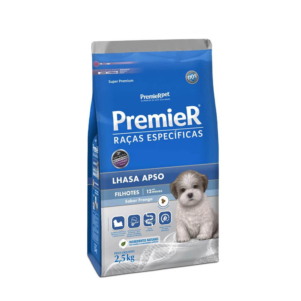 Ração Premier Lhasa Apso Filhotes Raças Específicas sabor Frango 2,5kg