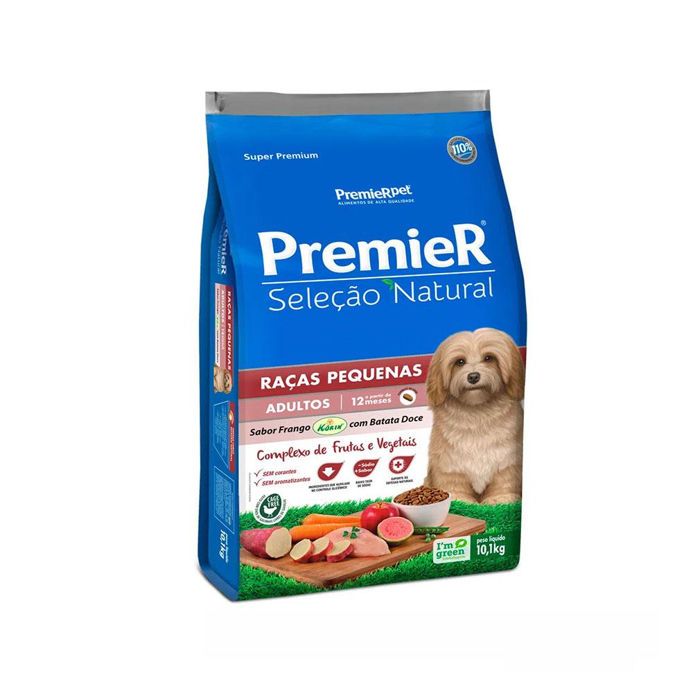Ração Premier Seleção Natural Cães Adultos Raças Pequenas Batata Doce 10,1kg