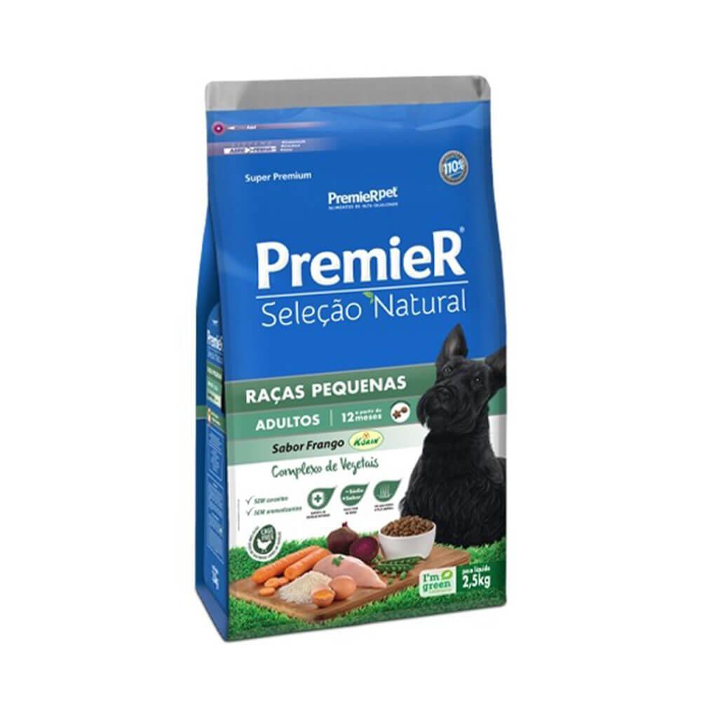 Ração Premier Seleção Natural Cães Adultos Raças Pequenas sabor Frango 2,5kg