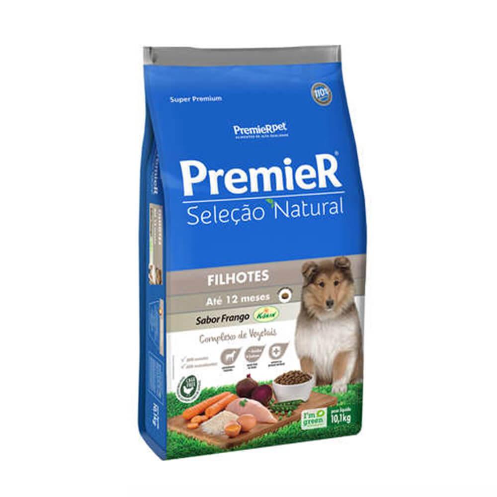 Ração Premier Seleção Natural Cães Filhotes sabor Frango Korin 10,1kg