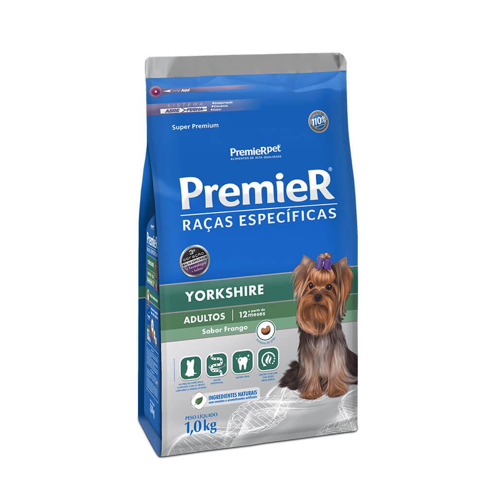 Ração Premier Yorkshire Adultos sabor Frango 1kg