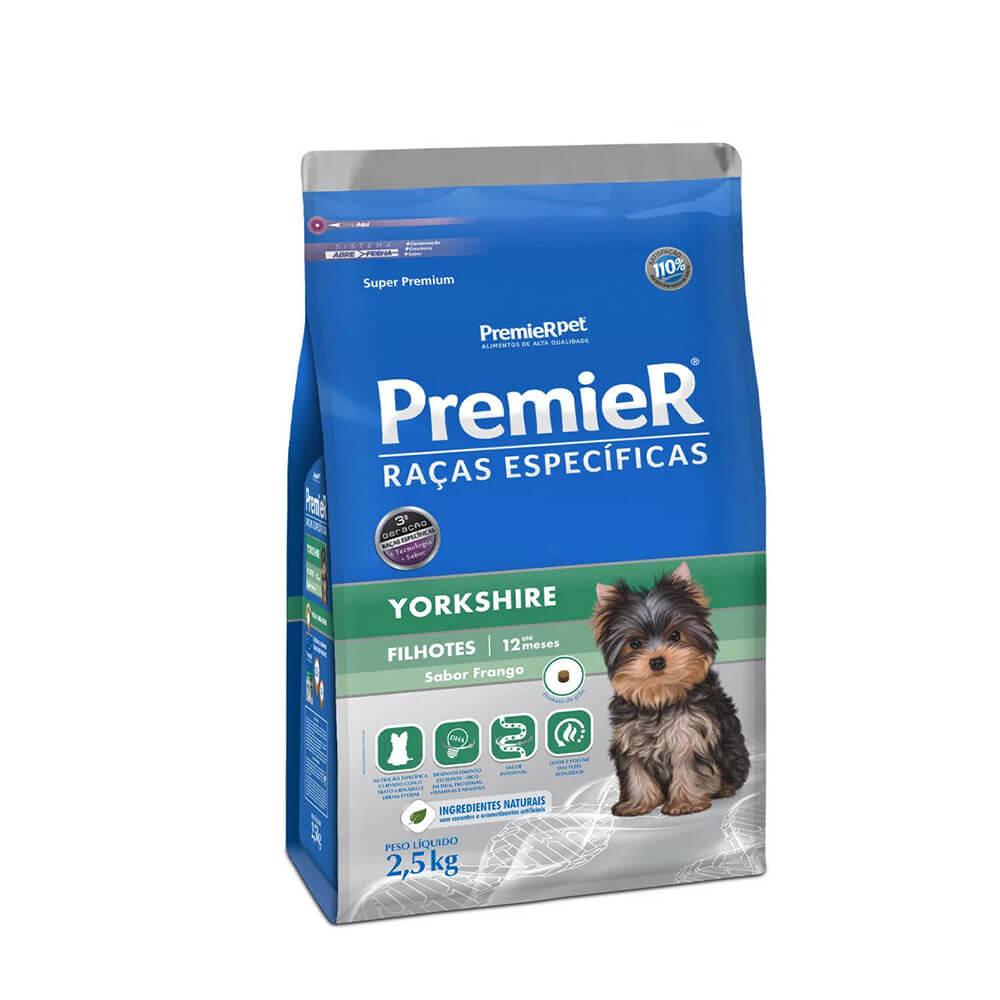 Ração Premier Yorkshire Cães Filhotes sabor Frango 2,5kg