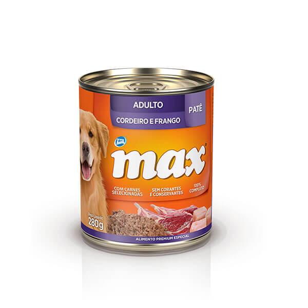 Ração Úmida Max Cães Adultos Patê Sabor Cordeiro e Frango 280 g
