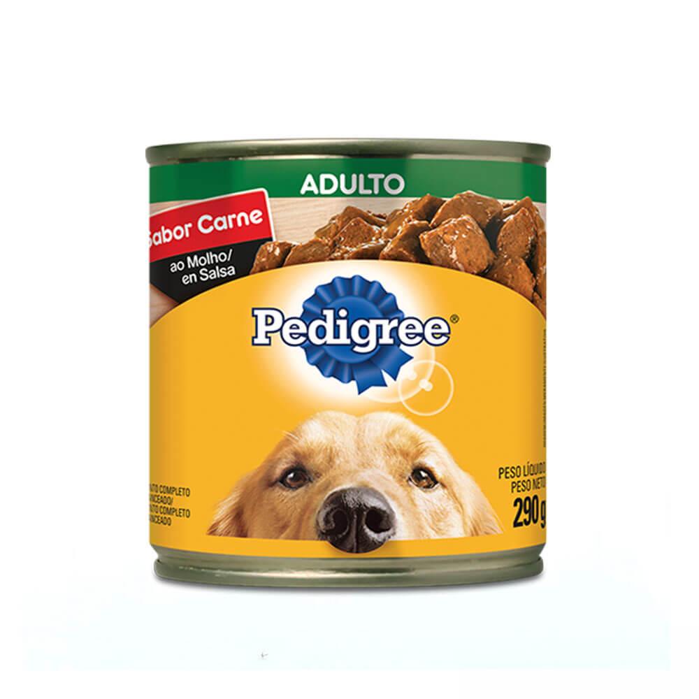 Ração Úmida para Cães Adultos Pedigree Lata Carne ao Molho 290g