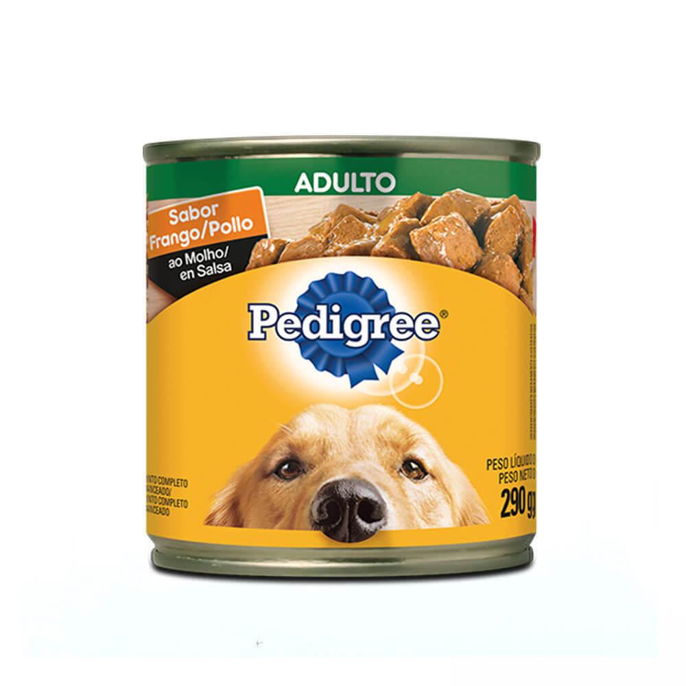 Ração Úmida para Cães Adultos Pedigree Lata Frango ao Molho 290g