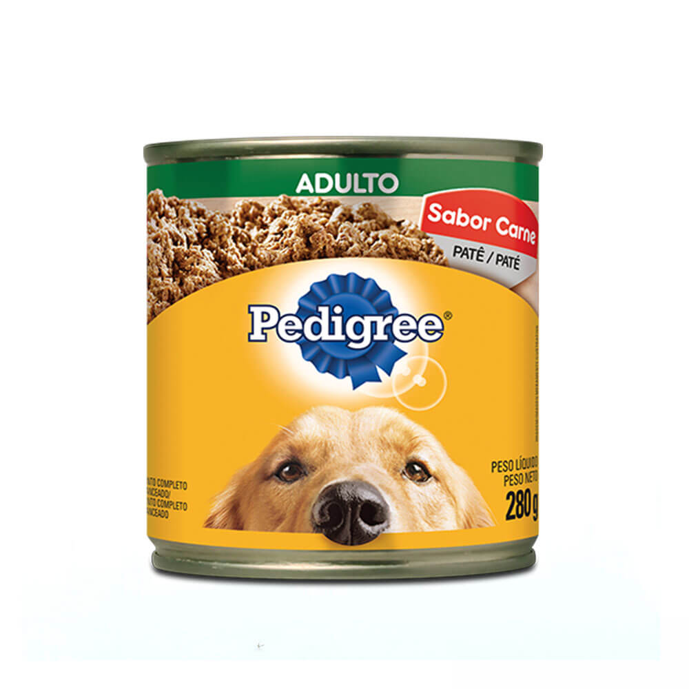 Ração Úmida para Cães Adultos Pedigree Lata Patê Carne 280g
