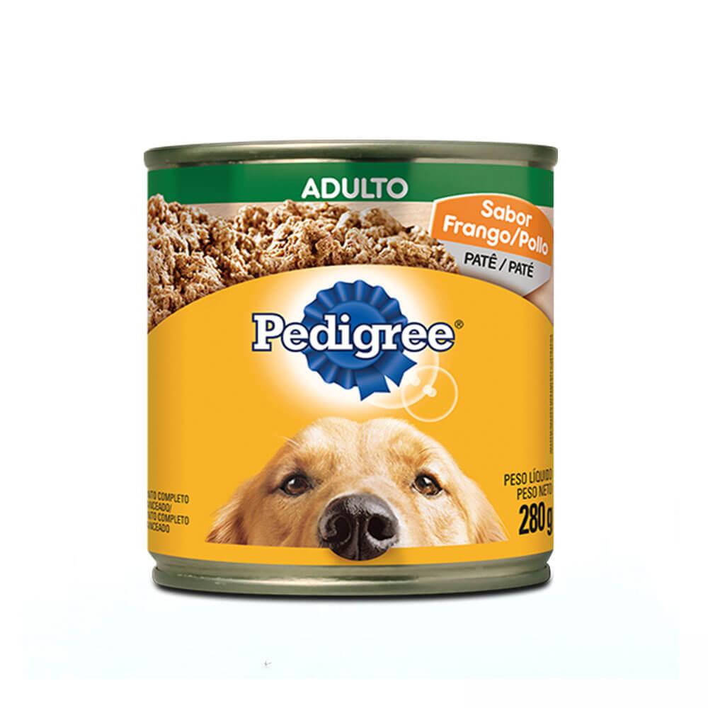 Ração Úmida para Cães Adultos Pedigree Lata Patê Frango 280g