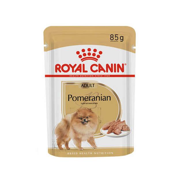 Ração Úmida Royal Canin Pomeranian Cães Adultos 85 g