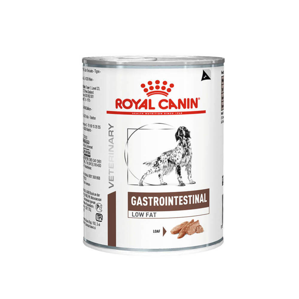 Royal Canin Gastro Intestinal Low Fat Canine Alimento Úmido Lata 410g