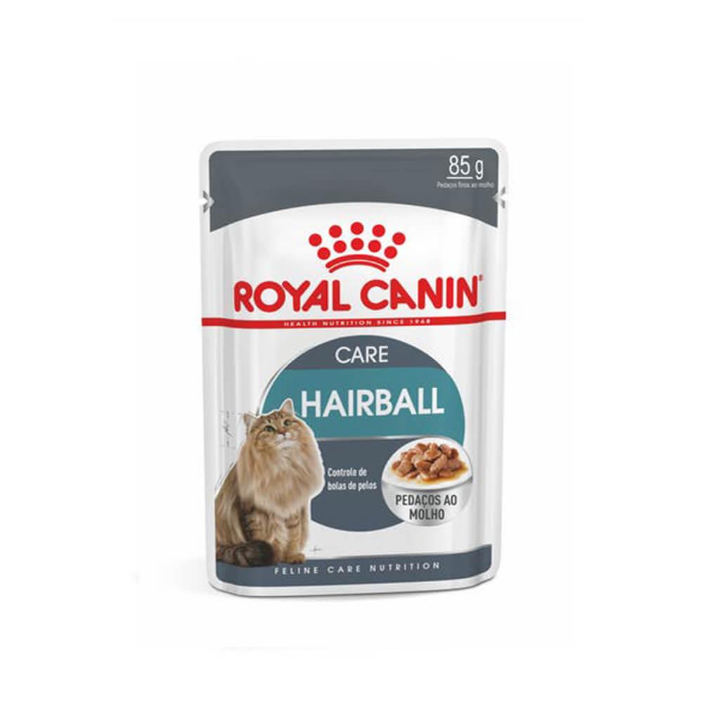 Royal Canin Hairball Care Gatos Alimento Úmido Sachê 85g