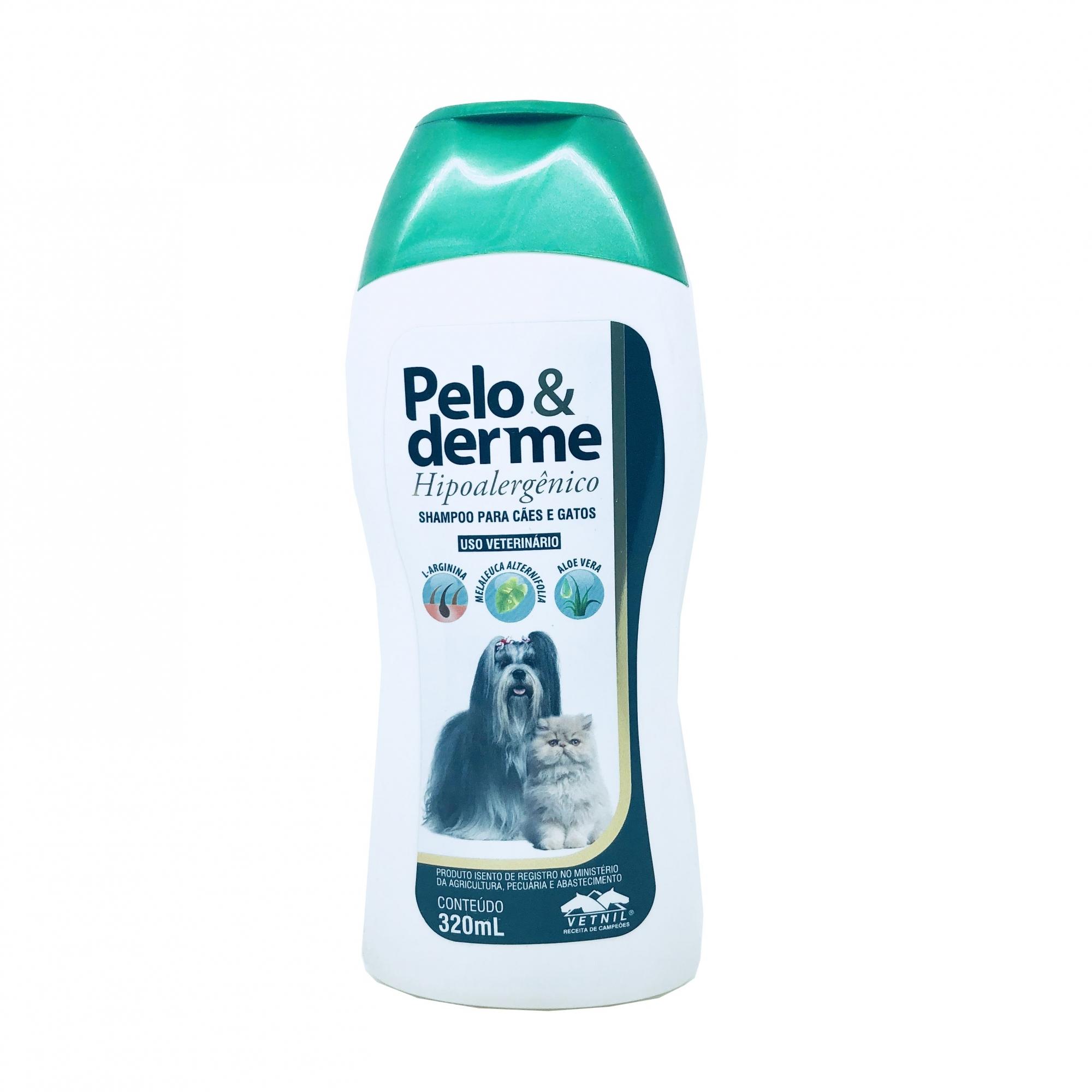 Shampoo Hipoalergênico Pelo e Derme Vetnil 320 ml
