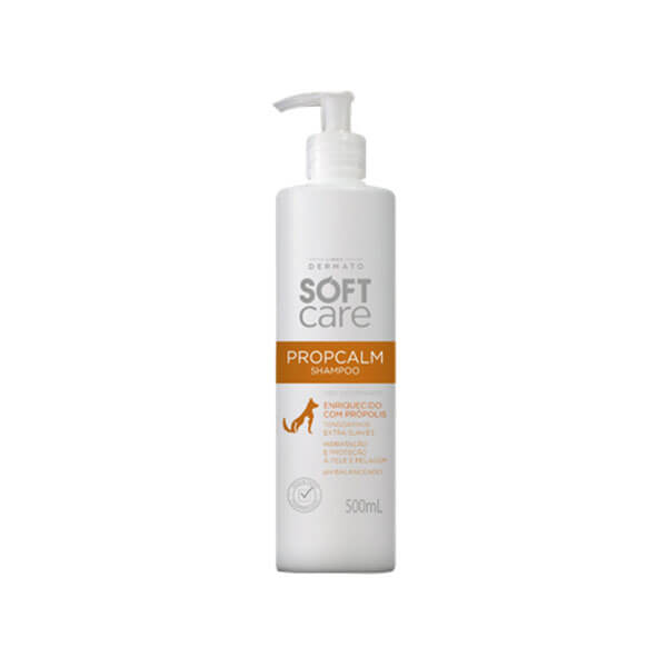 Soft Care Shampoo Propcalm Hidrante para Pele e Pelagem para Cães e Gatos 500 ml