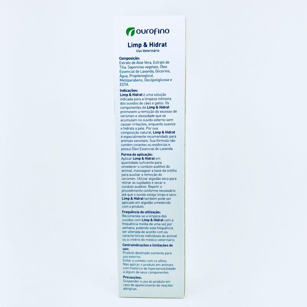 Solução Auricular Limp e Hidrat Ourofino 100ml