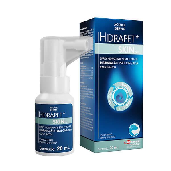 Spray hidratante Hidrapet Skin On Cães e Gatos 20ml Agener União
