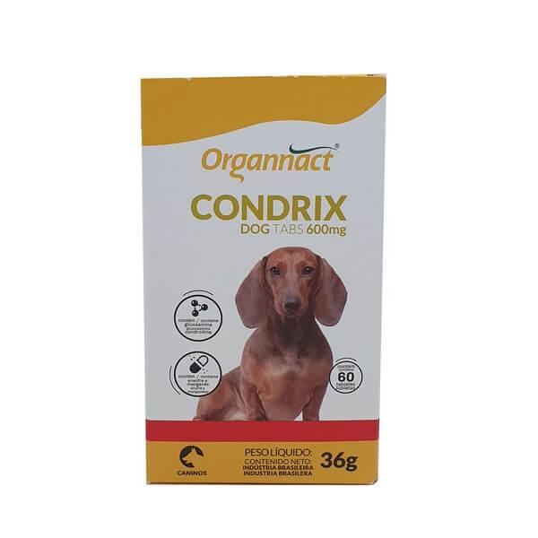 Suplemento Alimentar Condrix Dog  Tabs 600mg para Cães Organnact 36g