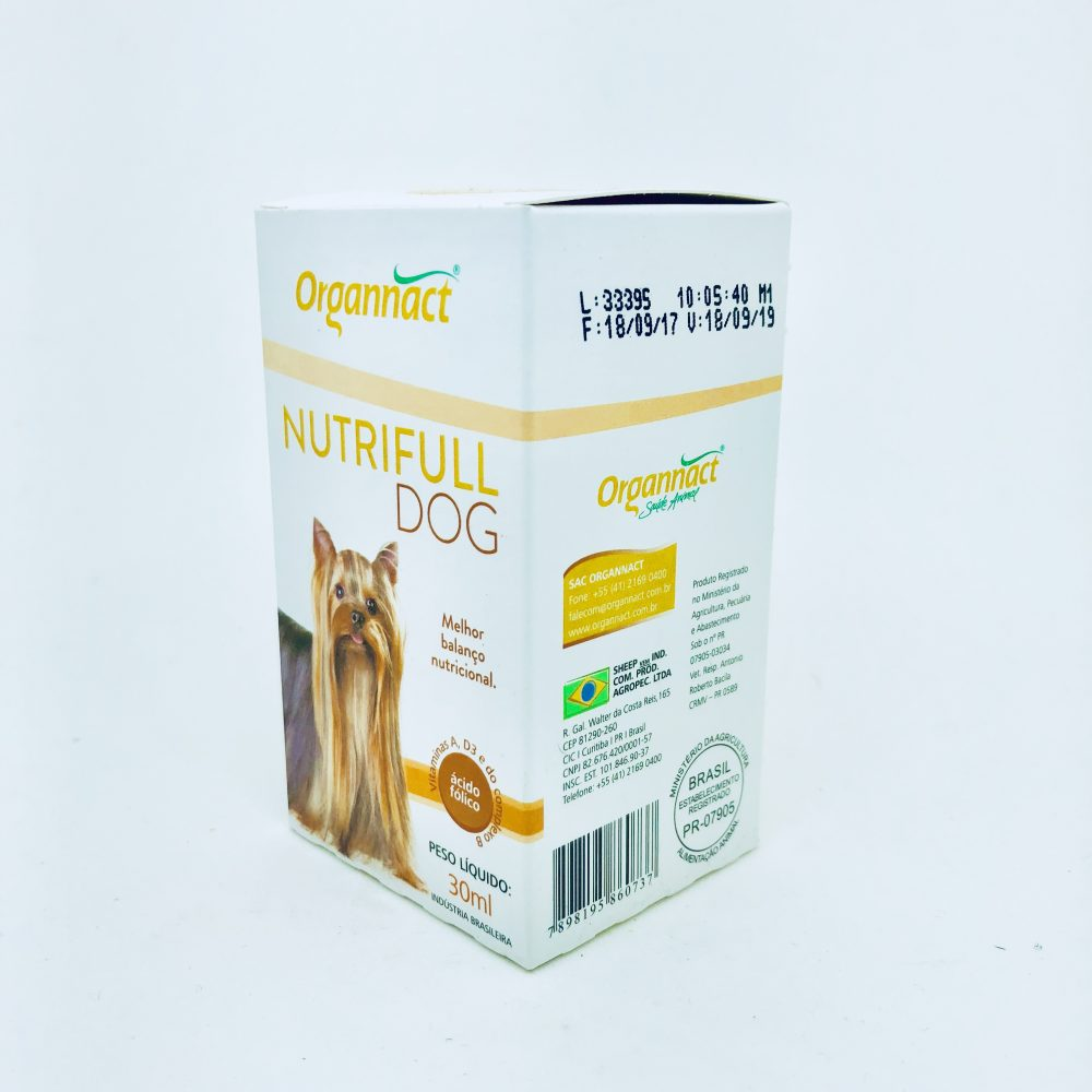 Suplemento Alimentar Nutrifull Dog 30 ml Organnact