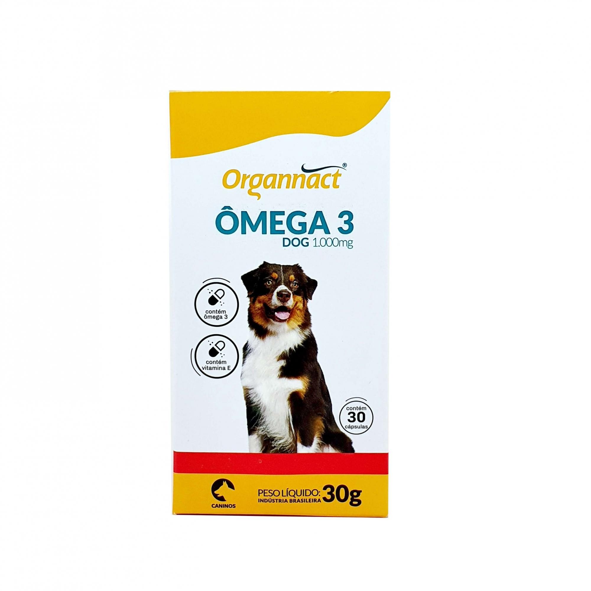 Suplemento Alimentar Ômega 3 Dog 1000 Organnact 30 Cápsulas