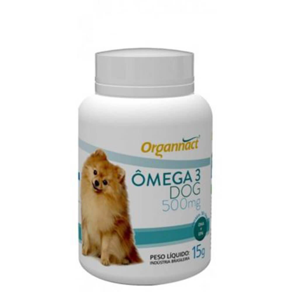 Suplemento Alimentar Ômega 3 Dog 500 Organnact 30 Cápsulas