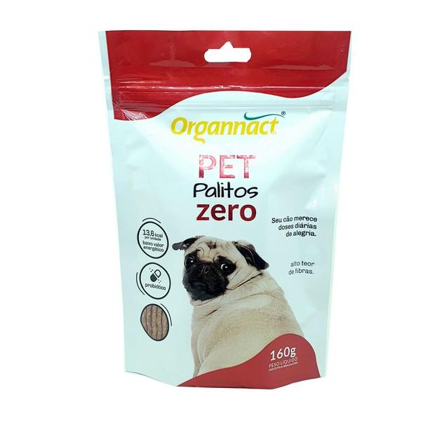 Suplemento Alimentar Pet Palitos Zero Organnact 160 g