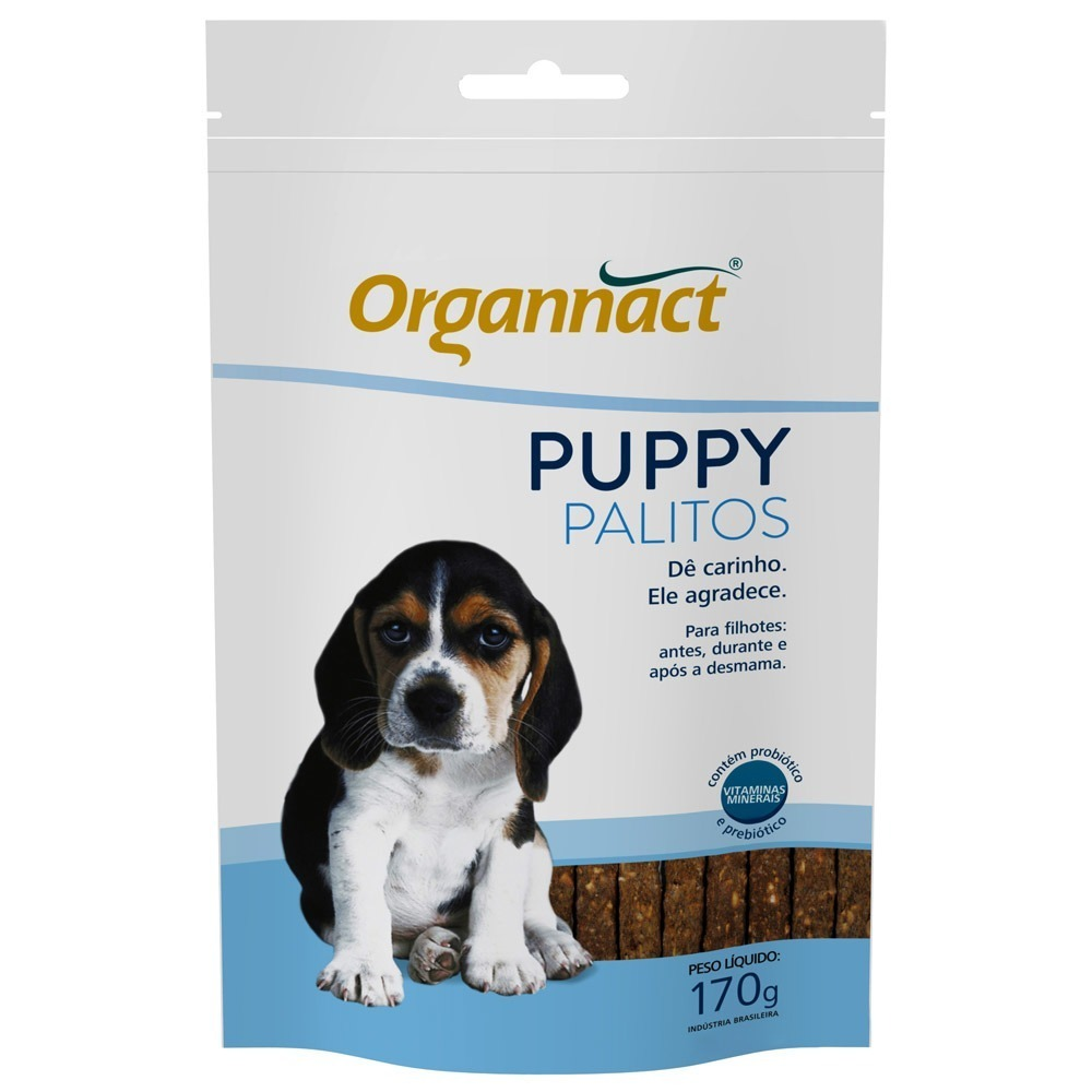 Suplemento Alimentar Puppy Dog Palitos Organnact 170 g