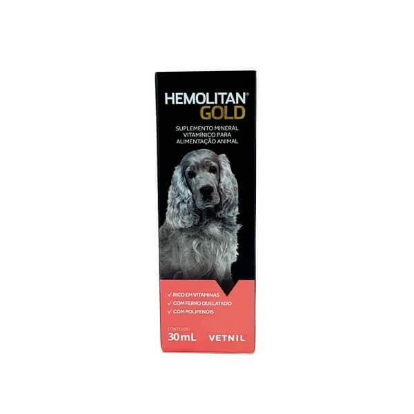 Suplemento Hemolitan Gold para Cães e Gatos Vetnil 30ml