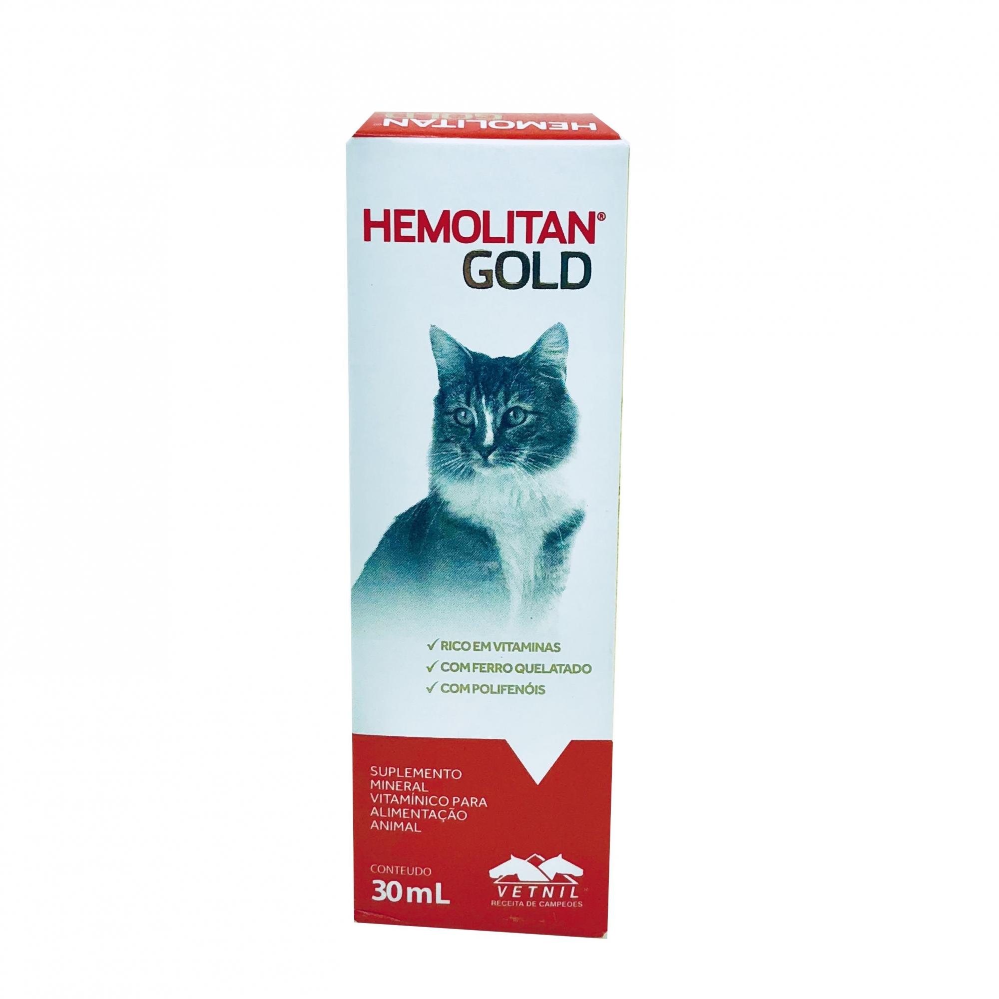 Suplemento Hemolitan Gold Vetnil 30ml