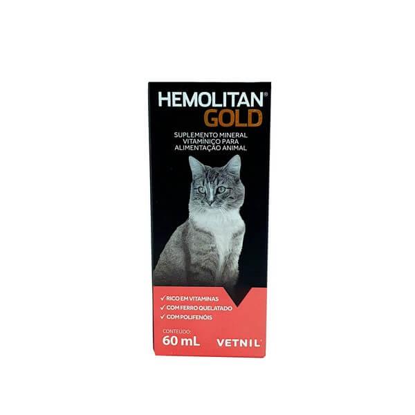Suplemento Hemolitan Gold Vetnil 60ml