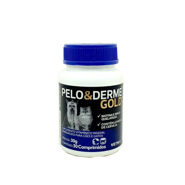 Suplemento Pelo e Derme Gold Vetnil 30 Comprimidos