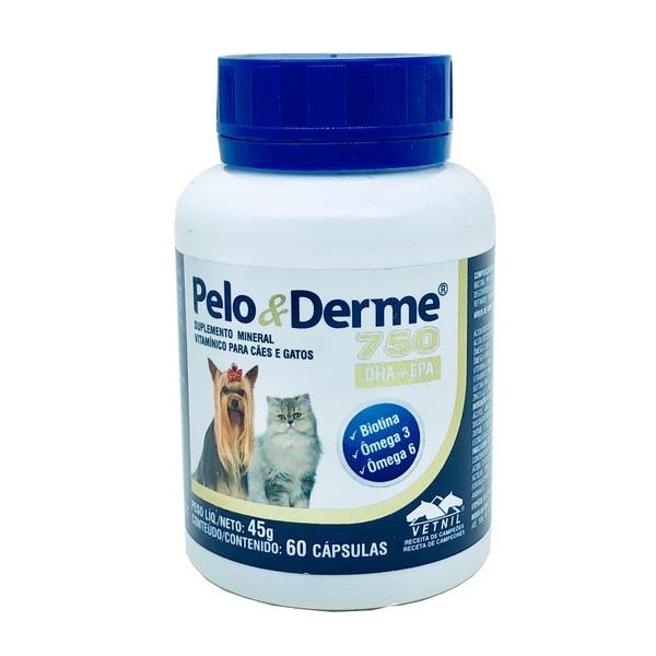 Suplemento Pelo e Derme Vetnil 750 60 cápsulas