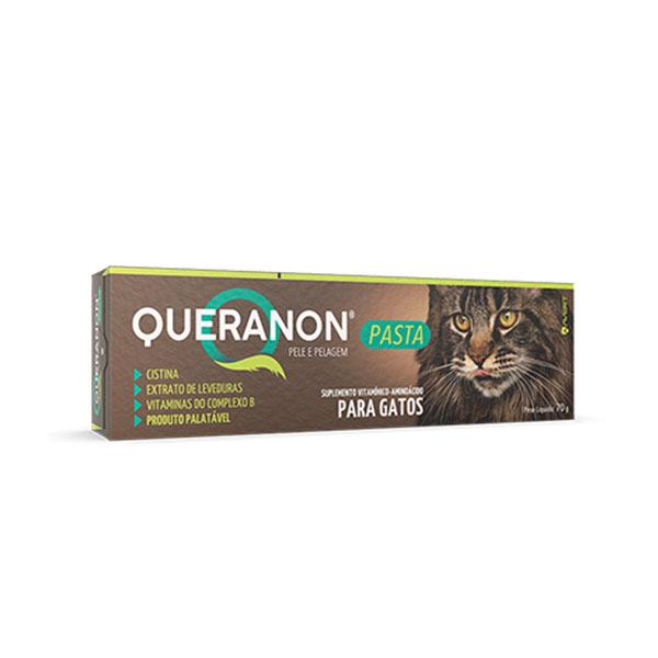 Suplemento Queranon Pasta Pele e Pelagem para Gatos 70g Avert