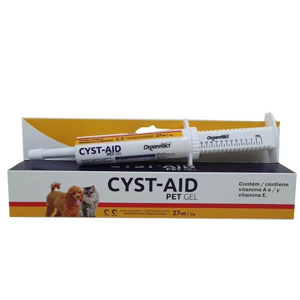 Suplemento Vitamínico Cyst-Aid Pet Gel para Cães e Gatos Organnact 35 g