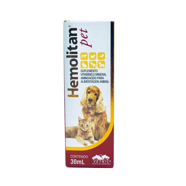 Suplemento Vitamínico Hemolitan Pet Vetnil 30ml