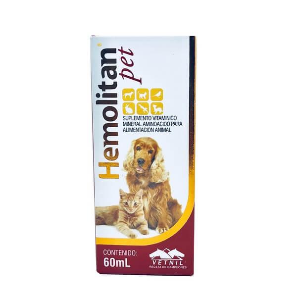 Suplemento Vitamínico Hemolitan Pet Vetnil 60ml