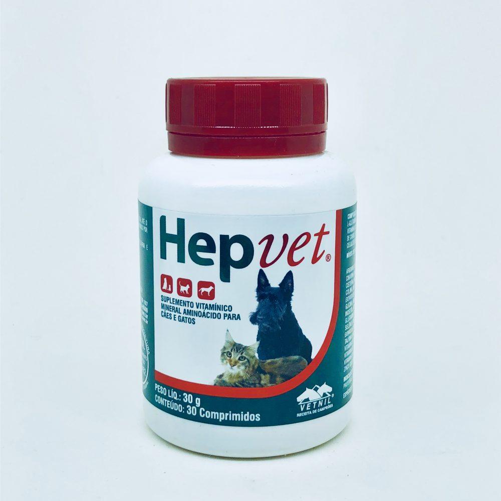 Suplemento Vitamínico Hepvet Comprimidos Vetnil - 30 Comprimidos